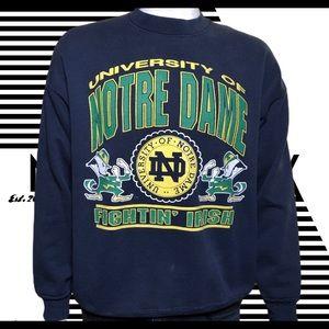 90s Blue Notre Dame Fightin' Irish sweatshirt